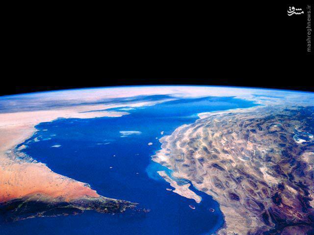 عکس هوایی از خلیج همیشگی فارس