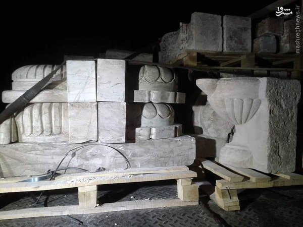 جلوگیری از سرقت آثار باستانی سوریه+عکس