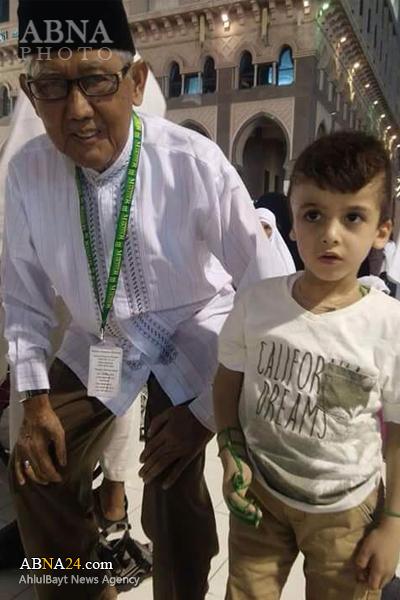 تشرف کودک خبرساز فلسطینی به مکه مکرمه + عکس