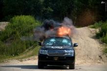 عکس/ تست مرگبار خودروهای تشریفاتی