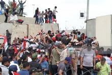 عکس/ حضور معترضان در صحن پارلمان عراق