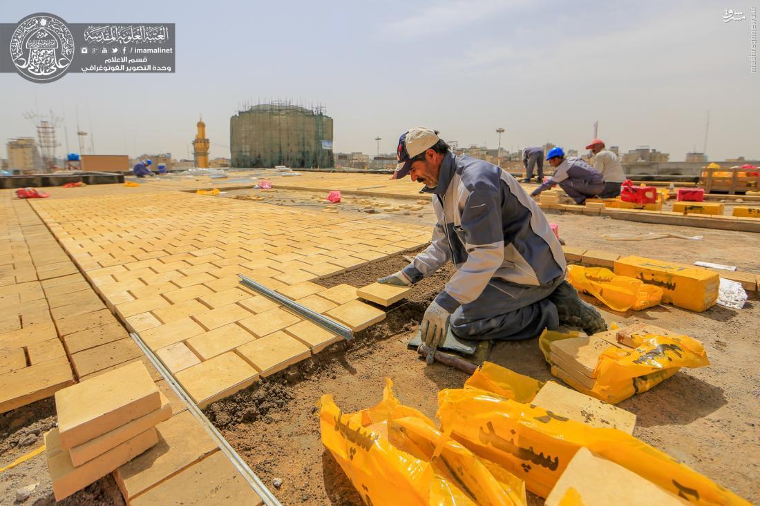 تصاویری دیدنی از ساخت صحن بزرگ حضرت زهرا(س) توسط ایران