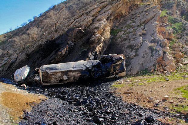 تکرار حادثه برای نفتکشها در لرستان +عکس