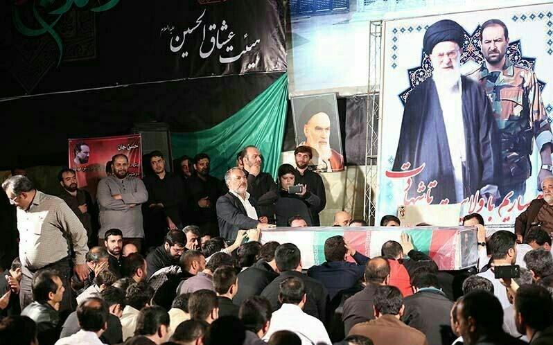 مراسم وداع با محافظ شهید«آقا» +عکس