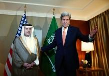 عکس/ دیدار جان کری با وزیر خارجه عربستان