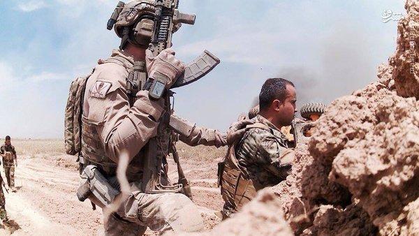 حضور مزدوران آمریکایی در صفوف پیشمرگه عراق+عکس