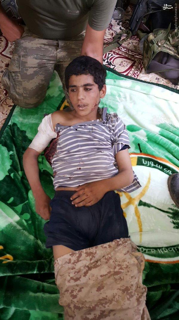 دستگیری کودک سربازان داعش در حلب+عکس