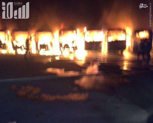 اعتراض کارگران در شب آتشین مکه+عکس