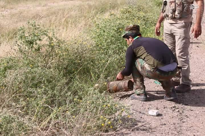 خنثی سازی دو بمب در کاظمین+عکس