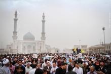 عکس/ سنگ تمام مردم قم برای شهدای مدافع حرم