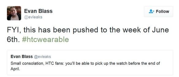 ساعت هوشمند HTC اواسط خرداد عرضه میشود؟