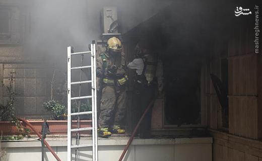 آتش سوزی مهیب ساختمان اداری در خیابان شریعتی +تصاویر