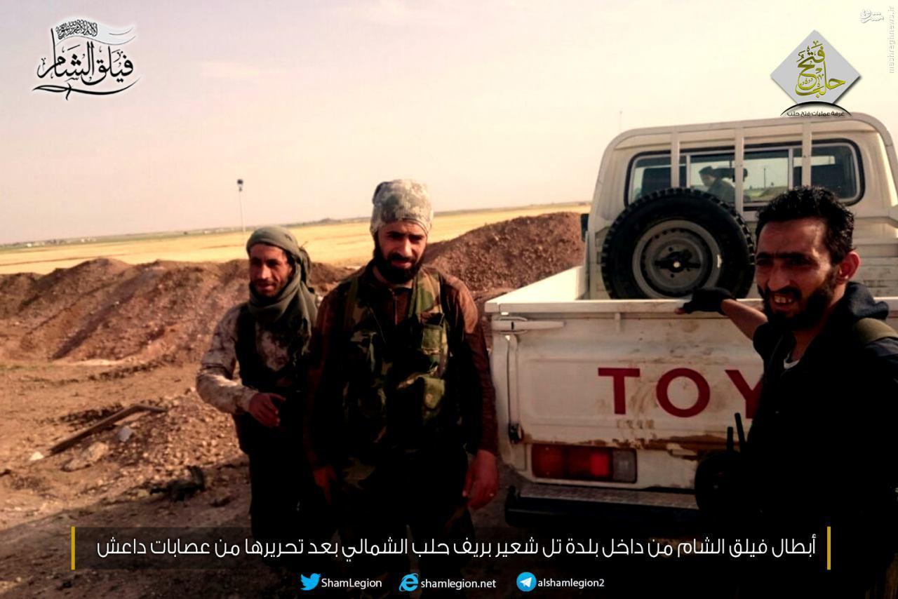 درگیری داعش و گروههای رقیب در مجاورت مرز ترکیه+عکس