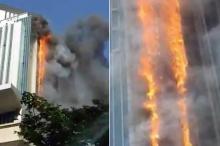 فیلم/ آتشسوزی آسمانخراش چینی