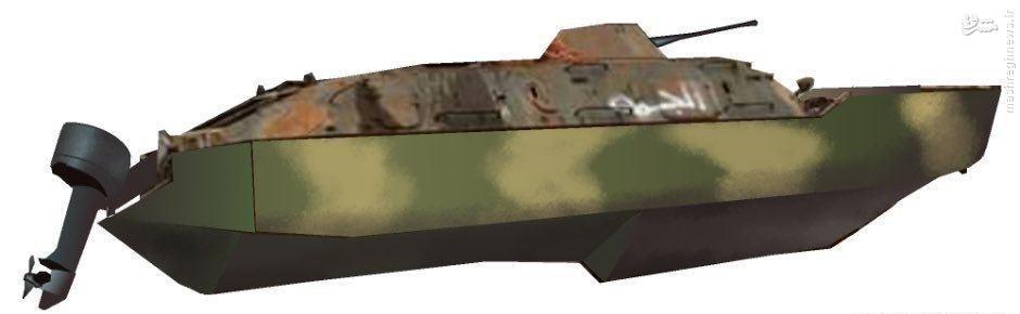تبدیل نفربر به قایق توپدار توسط داعش+عکس