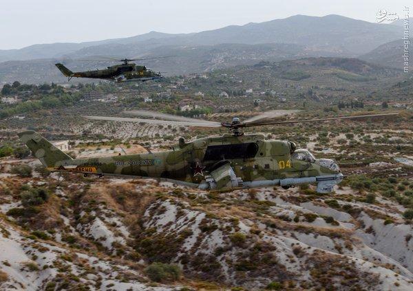 حضور قدرتمند بالگردهای روسی در آسمان سوریه+عکس