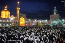 عکس/ آذین بندی حرم رضوی در شب مبعث حضرت رسول (ص)