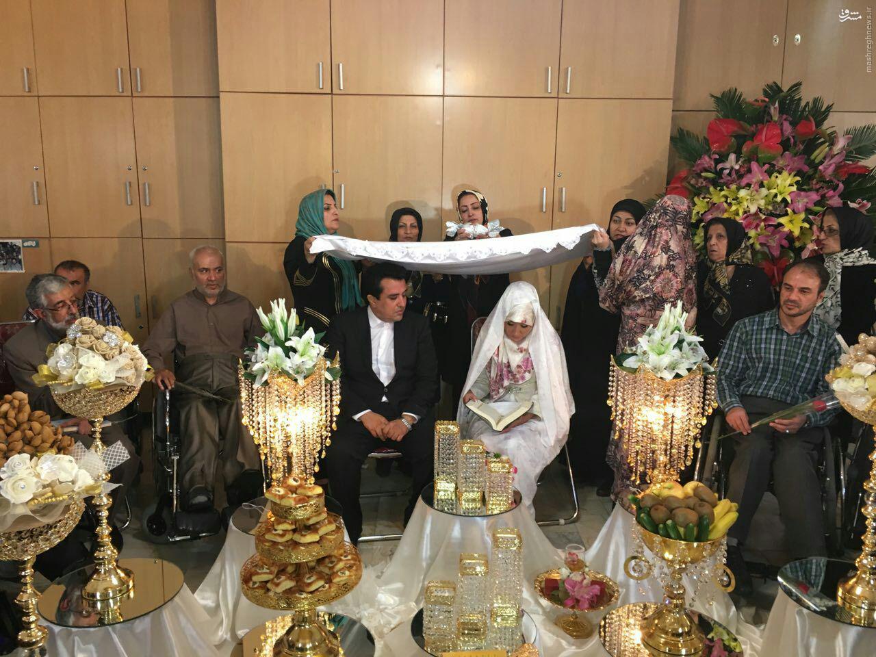 عکس/ مراسم عقد حسینی بای آسایشگاه جانبازان ثارالله