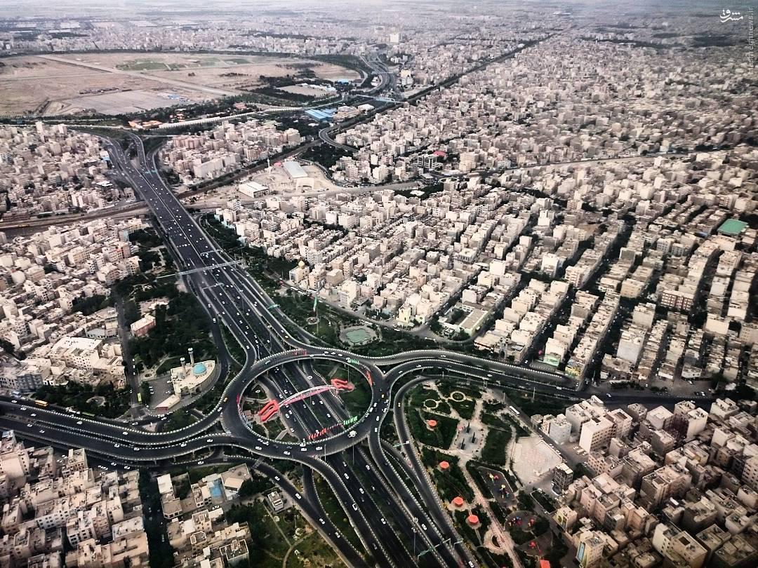 عکس دیدنی از جنوب تهران - میدان حق شناس