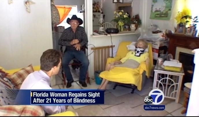 بینایی پیرزن ۷۰ ساله بعد از ۲۰ +تصاویر