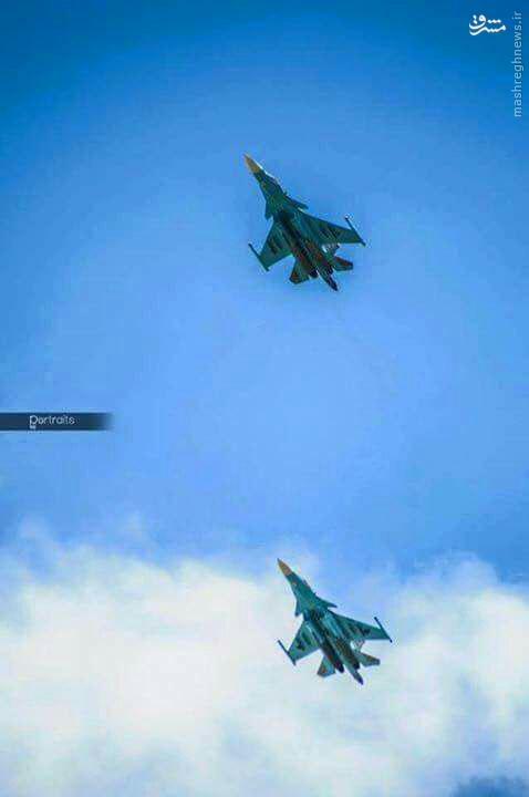 مانور گسترده جنگنده های روس در آسمان سوریه+عکس