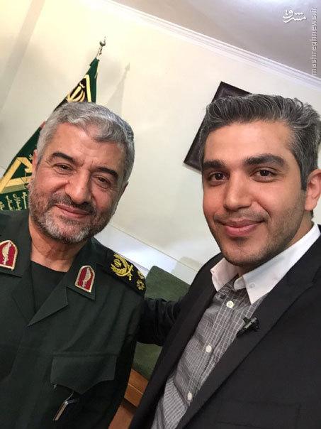 عکس/ سلفی خبرنگار معروف با فرمانده سپاه
