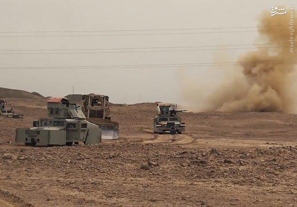 موشک باران مقر اصلی داعش در حاشیه فلوجه+عکس