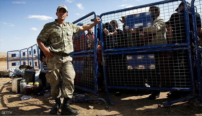 ترکیه به آوارگان سوری تیراندازی می کند