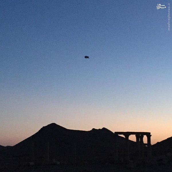 بالونهای شناسایی روس در آسمان تدمر+عکس