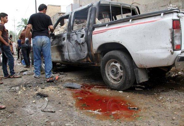 انفجار ون بمبگذاری شده در بعقوبه عراق+عکس