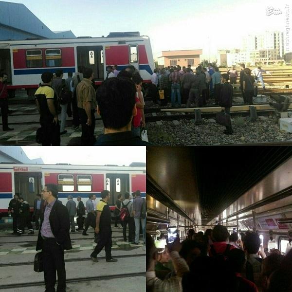 اقدام عجیب مترو تهران پس از خراب شدن قطار +عکس