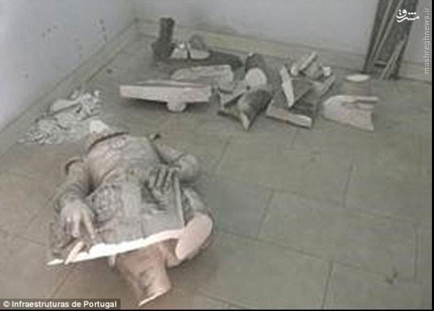مجسمه تاریخی، قربانی عکس سلفی شد +تصاویر