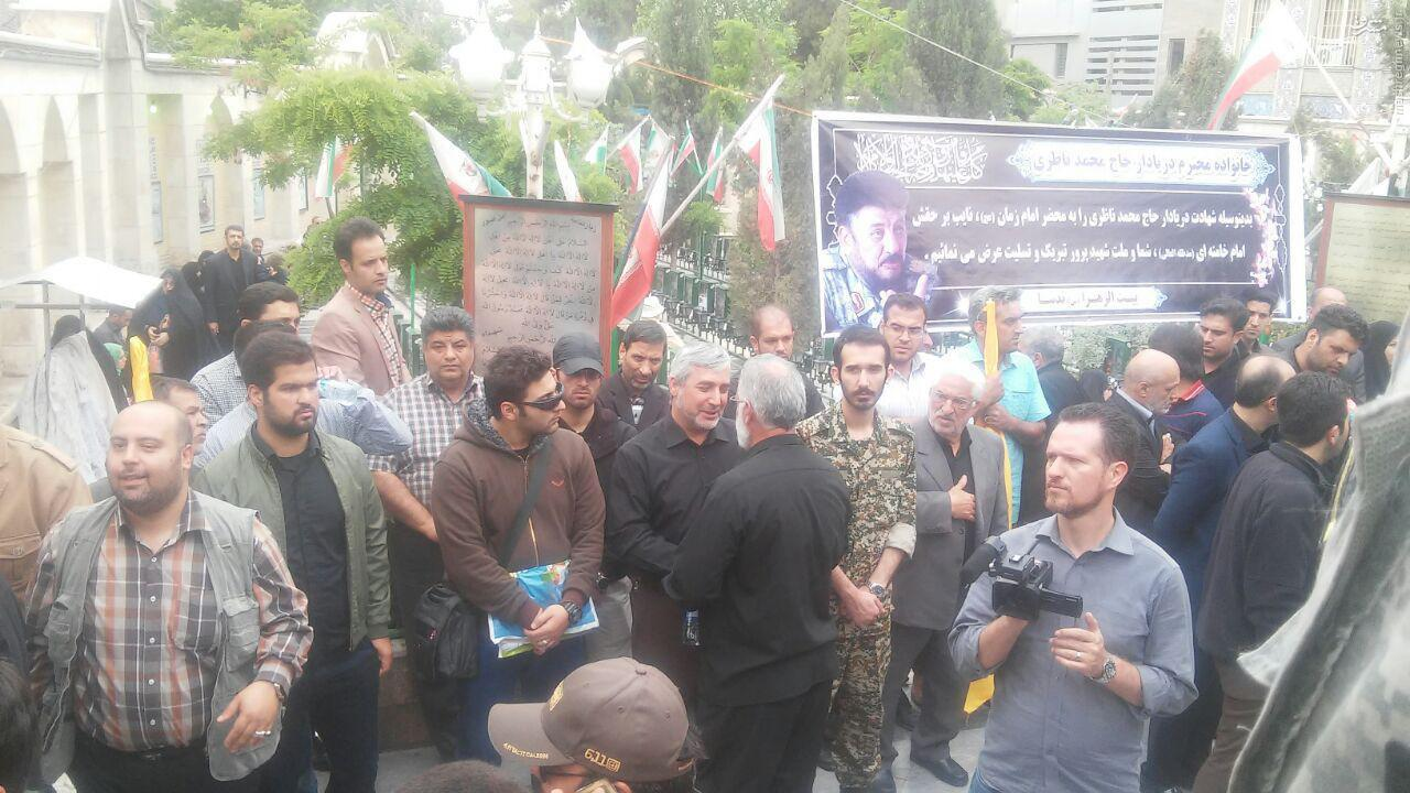 عکس/ حاتمیکیا در مراسم تشییع فرمانده