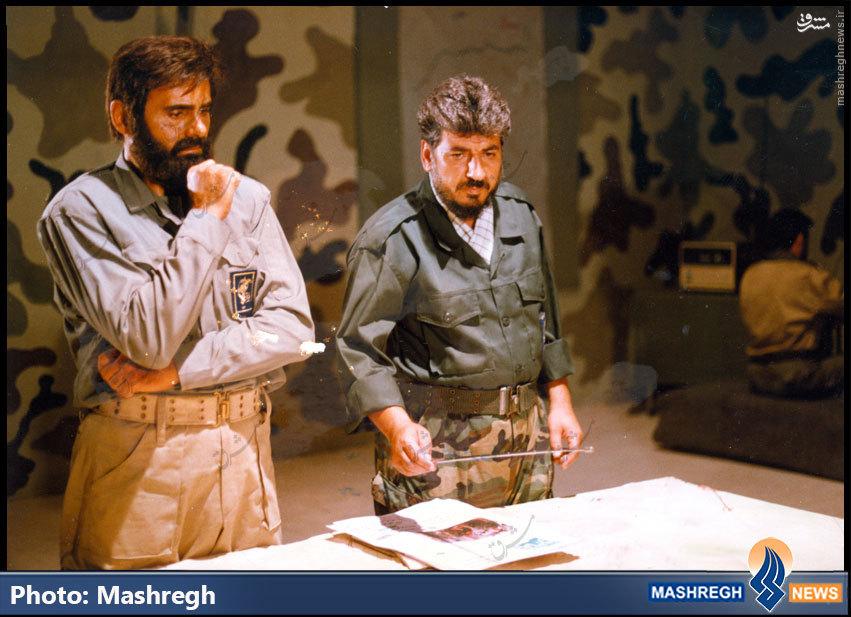 عکس/«جمشیدهاشم پور» در کنار فرمانده تکاوران سپاه