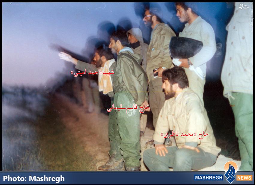 عکس/ «حاج قاسم سلیمانی» و استادش در میدان نبرد