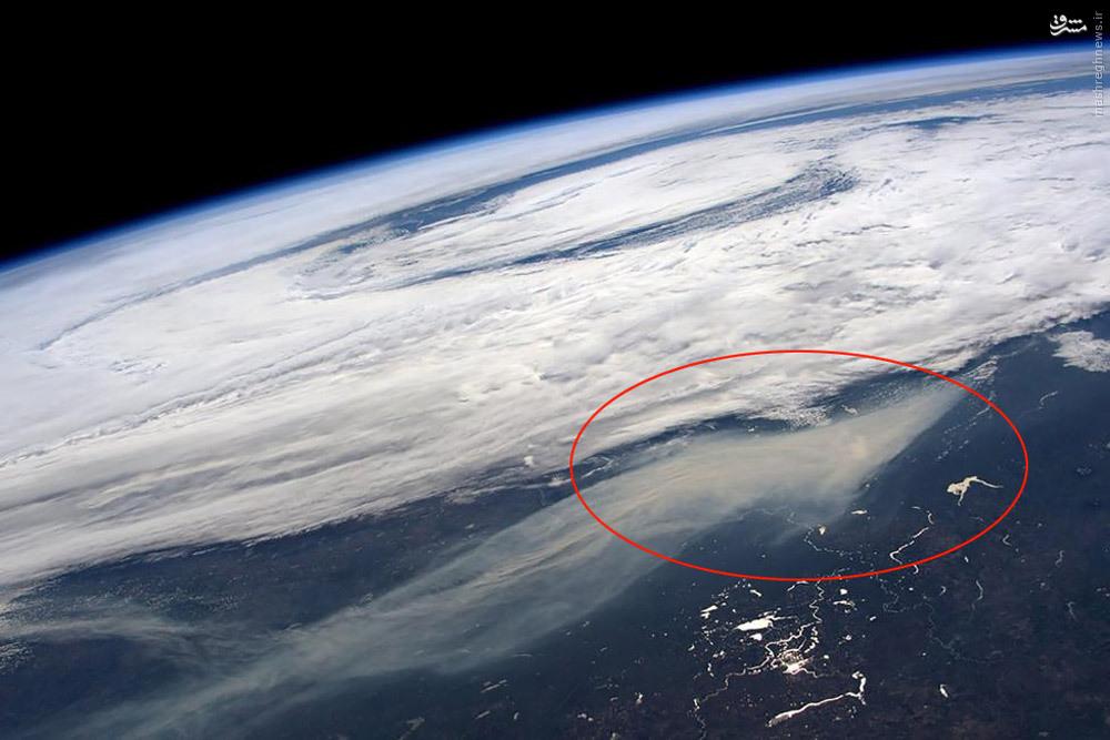 عکس ناسا از آتش سوزی جنگلهای کانادا