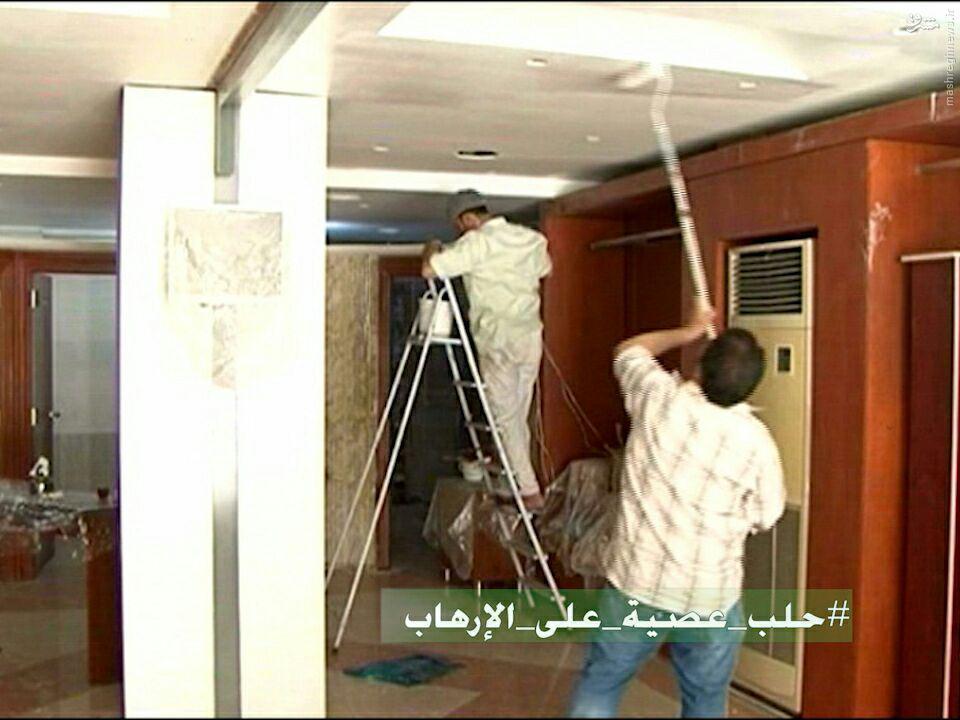 آغاز بازسازی محلات شهر حلب+فیلم و عکس