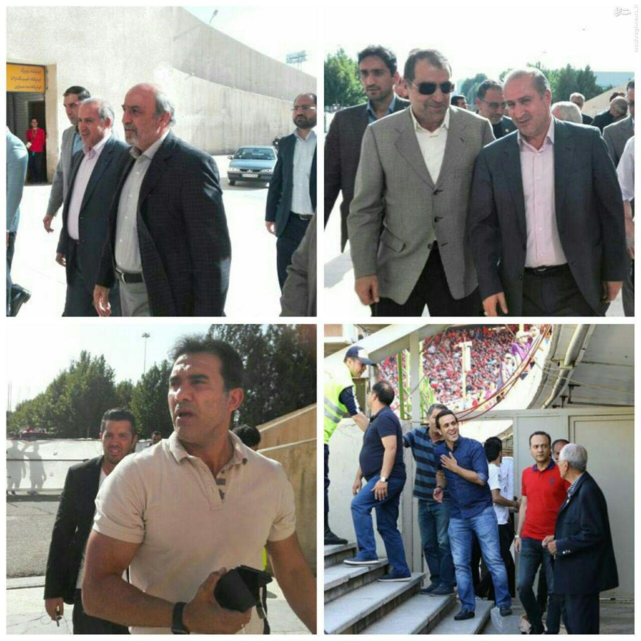 عکس/ وزیر بهداشت هم با آزادی رفت