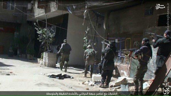ادامه درگیری ها در اردوگاه یرموک دمشق+عکس