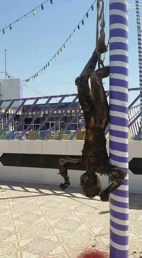 به آتش کشیدن عامل تیراندازی به طرفداران رئال مادرید در عراق+عکس