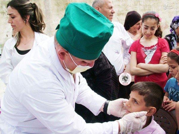 امدادرسانی روسیه به مردم لاذقیه+عکس