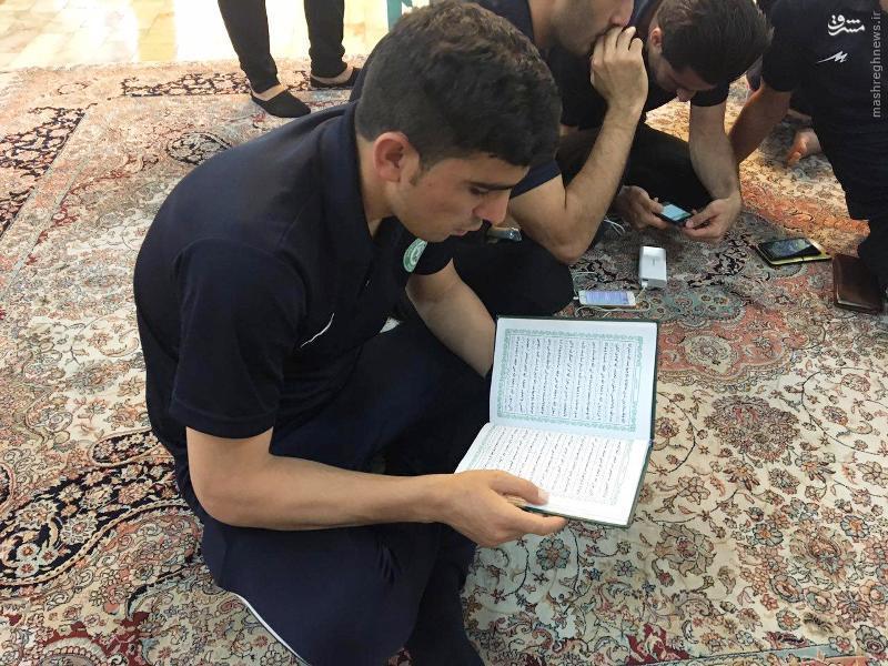 عکس/ شکرگزاری ماشین سازان در حرم حضرت معصومه