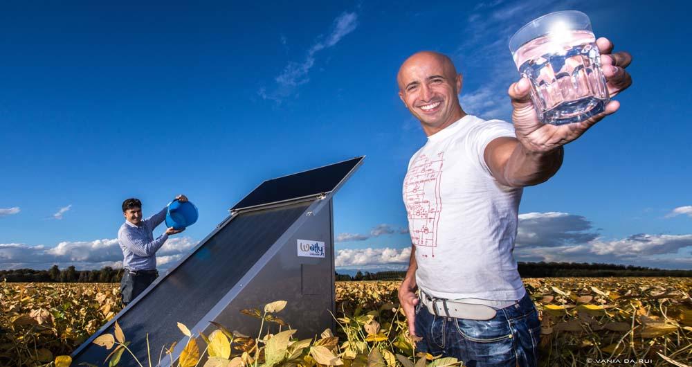 تهیه آب، اینترنت و برق با دستگاه خورشیدی +عکس