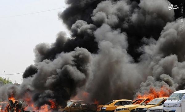 8 انتحاری داعش در شمال بغداد+عکس
