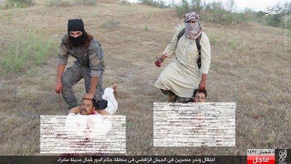 ذبح دو اسیر ارتش عراق توسط داعش در سامراء+عکس