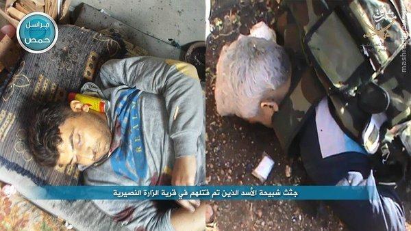 عکس یادگاری تروریستها با دستان خون آلود+عکس