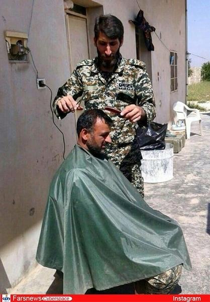 هرکسی را که این مدافع حرم اصلاح کرد، شهید شد +عکس