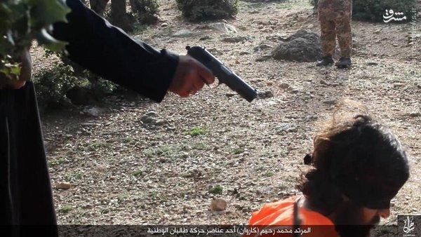 اعدام 3 فرمانده طالبان توسط داعش+عکس
