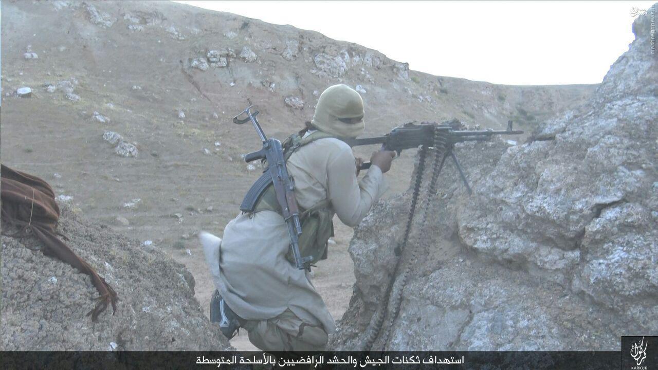 حمله شیمیایی داعش به کرکوک عراق+عکس