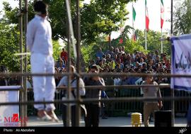 قاتل مرد طلا فروش مشهدی در ملاعام قصاص شد +تصاویر